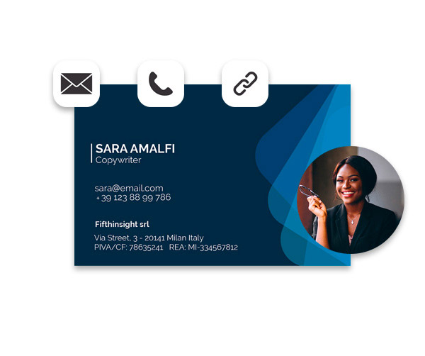 Templates for business cards with Augmented Reality